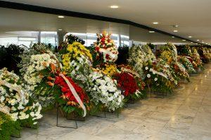 Bras'ila - DF , 30/03/2011. Flores em homenagem ao Ex-Vice Presidente JosŽ Alencar no Pal‡cio do Planalto. Foto:Rafael Alencar/PR